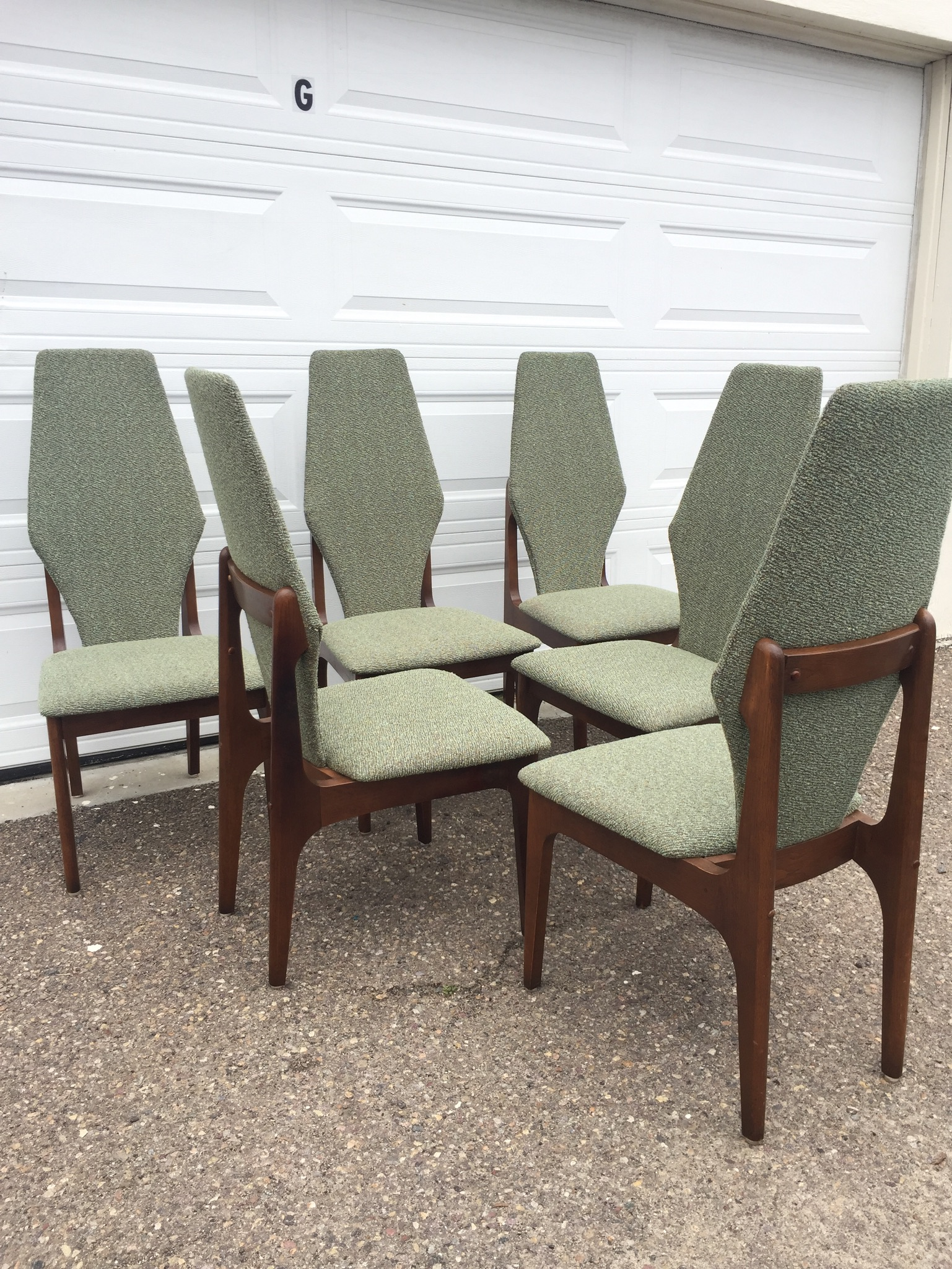 1960 S High Back Dining Chairs Modern Flamingo