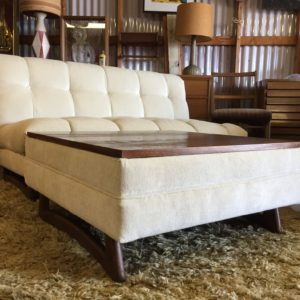 Adrian Pearsall Love Seat With Ottoman