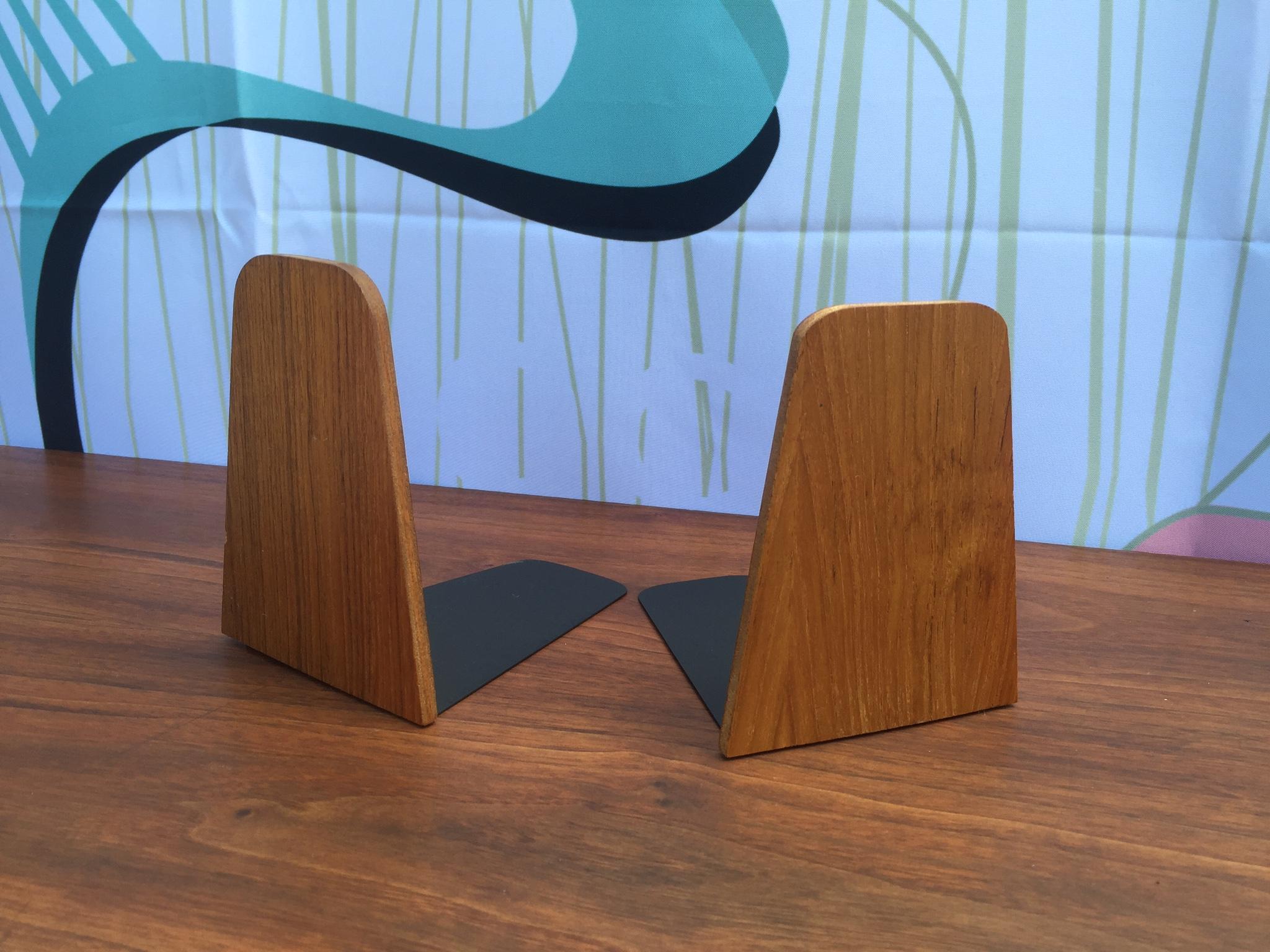 excellent mid century modern bedroom referencias san and | Danish Modern Teak Bookends | Modern Flamingo